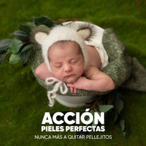 acción para eliminar pieles de newborn